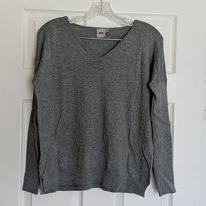 ASOS Gray V-neck Thin Knit Sweater 0